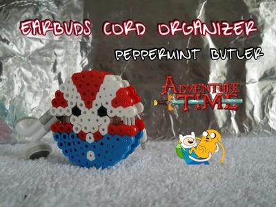 DIY Earbud cord organizer perler beads~Adventure Time~ Holiday gift ideas