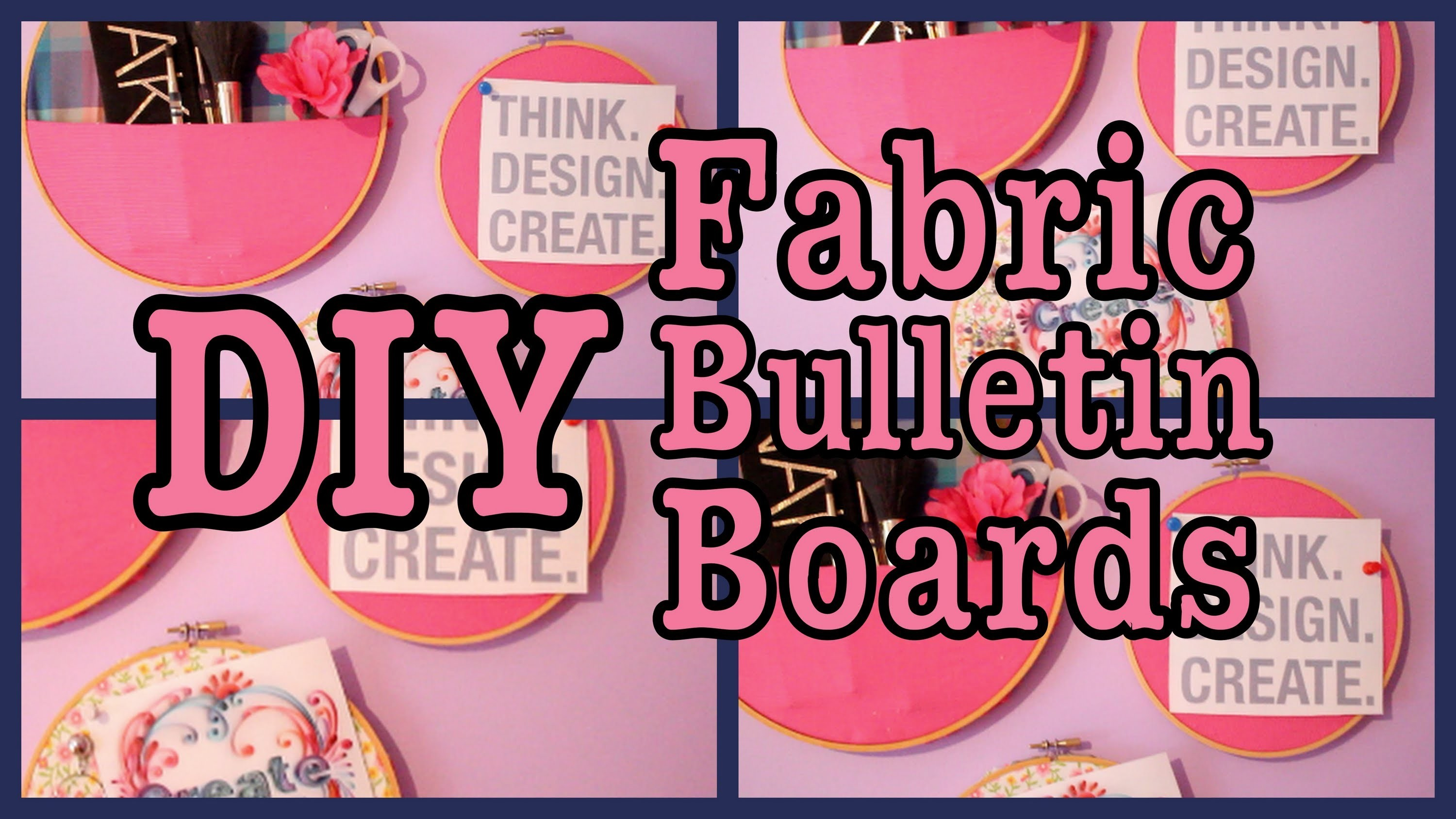 DIY: Easy Fabric Bulletin Boards