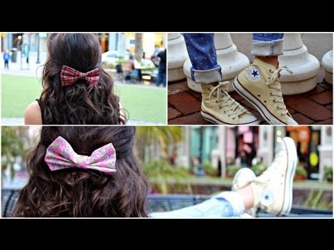 DIY Hair Bows! + How I wear.style my bows