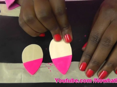DIY  Handpainted Black Barbie Earrings