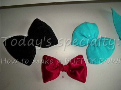 DIY: How to make a POOOFY BOW!