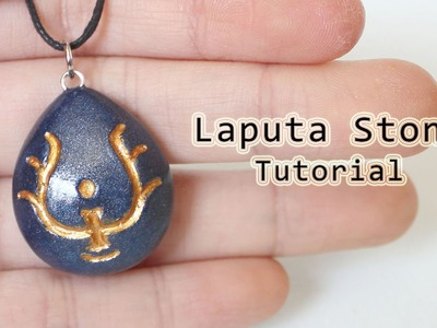 DIY Laputa Stone Necklace from Castle in the Sky Polymer Clay Tutorial