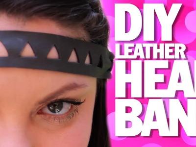 DIY LEATHER HEADBAND!   Summer Festival Fashion Threadbanger
