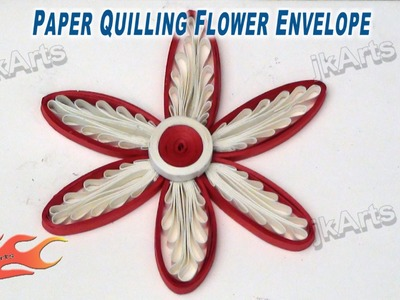 DIY Paper Quilling Flower Envelope JK Arts 275