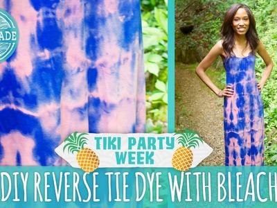 DIY Reverse Tie Dye with Bleach - Tiki Party Week - HGTV Handmade