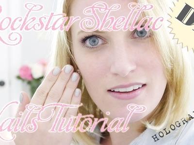 DIY Shellac Manicure + BONUS Rockstar Tutorial   Pretty Shiny Sparkly