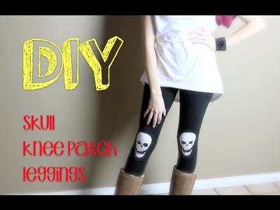 DIY Skull Knee Patch Leggings