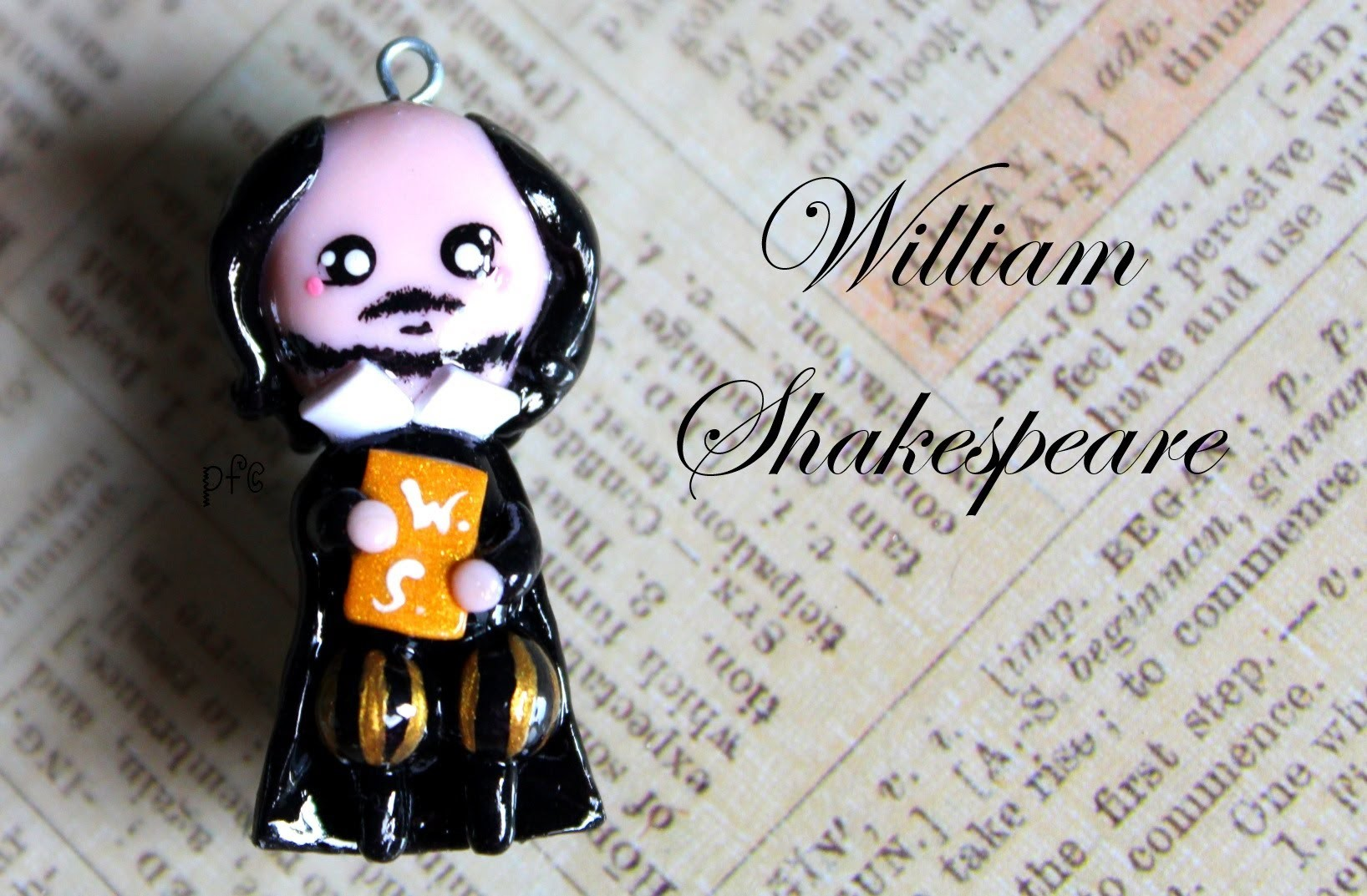 DIY William Shakespeare Polymer Clay Charm Tutorial