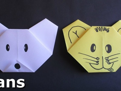 Easy Origami for Kids - Making a Bear Face - Complete instructions
