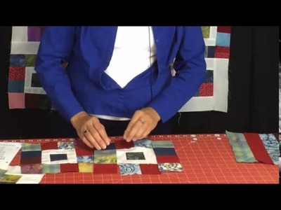 Fast and EAsy Scrap Quilt - Royal Squares Quilt Pattern