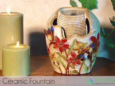 Flower Ceramic Tabletop Fountain by Serenity Health - #CTT104