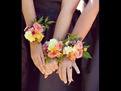 FLOWER MOXIE DIY:  How To Make A Wrist Corsage