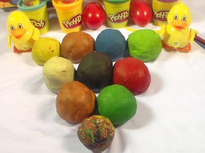Grapes apple play doh Strawberry craft dough surprise eggs how to play doh