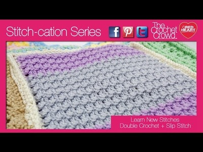 How to Crochet Double Crochet with Slip Stitches