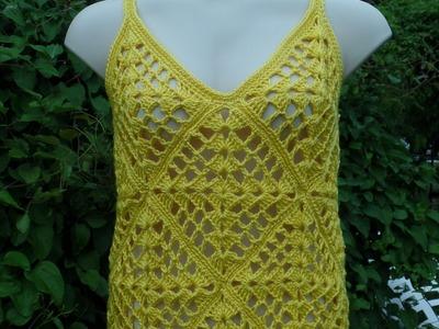 How To #Crochet Ladies Womens Summer Top Shirt Blouse Crochet #TUTORIAL DIY