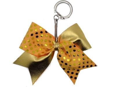 How To Make A Mini Cheer Bow Keychain Tutorial DIY