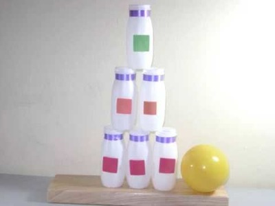 How to make a recycled carnival Bottle Stand game - EP