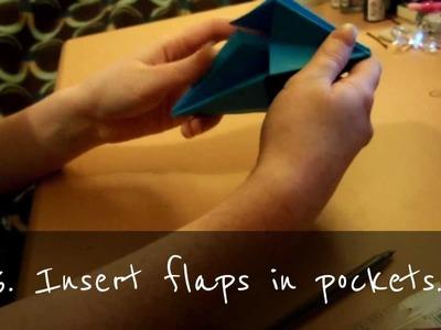 How to make a Sim's Plumb-bob (origami tutorial)