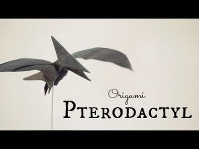How to make an Origami Pterodactyl. Pteranodon (Tadashi Mori)