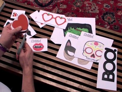 How to make DIY Printable Photo Booth Props