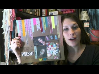 Joanns scrapbook haul, The scrap yard (washi tape haul), & Some finished projects!