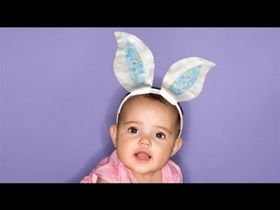 Make a funny rabbit ears for a fancy custome for kids