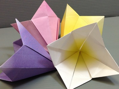 Make Your Own Origami Bell Flowers - Print at Home