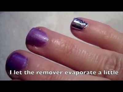 Metallic Foil Abstraction on Lavender Nail Polish