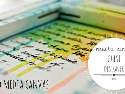 Mixed Media canvas - Faber-Castell Design Memory Craft-Guest Design Team
