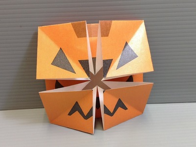 Origami Halloween Pumpkin Changing Faces - Print Your Own Paper!