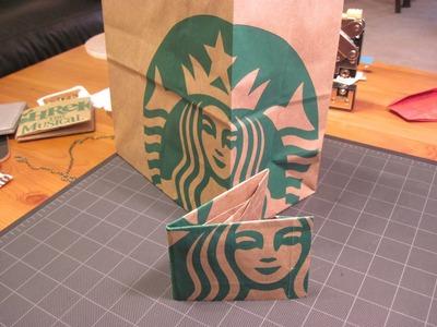 Origami Starbucks Paper Bag Wallet