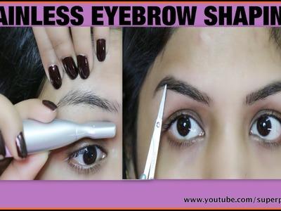 Painless Facial Hair Removal ,How To ,DIY Eyebrow Shaping Tutorial, SuperPrincessjo