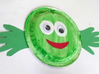 Preschool Paperplate Art - Frog