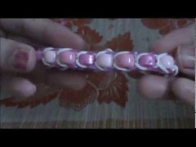 Rainbow Loom Beaded Bracelet EASY- Valentine's Day