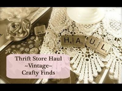 Retro Crafts: Thrift Store Haul of Vintage Crafty Goodies