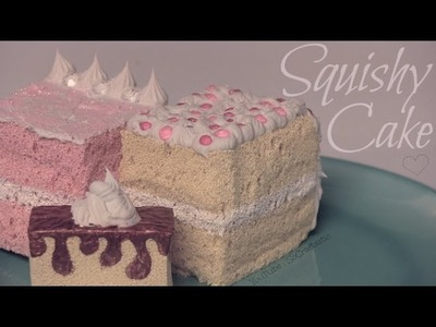 Squishy Cake Slice - How To - Homemade Squishies!