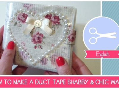 Tutorial HOW TO make a DIY shabby chic style duct tape wallet romantic crafting ideas