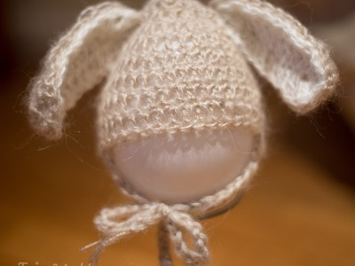 Tutorial, how to make bunny hat crochet bunny hat 0-6 pattern,easter bunny baby hat diy