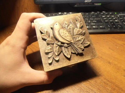 Wood carving | Carved jewelry box | handmade fine | art | gift | that podart | how to make