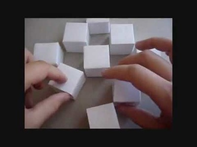 YouTube - How to make the origami moving cubes.flv