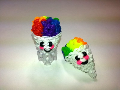 3-D Happy Snow Cone Tutorial by feelinspiffy (Rainbow Loom)