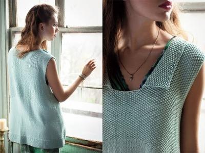 #4 Curve Hem Top, Vogue Knitting Spring.Summer 2012