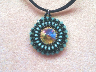 Beading4perfectionists : Decorating the 18mm bezel with 4mm Swarovski's beading tutorial (part 2)