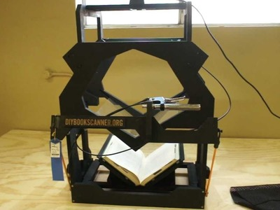 BETA DIY Book Scanner Kit Demo and Walkthrough