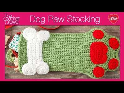 Crochet Dog Paws Christmas Stocking