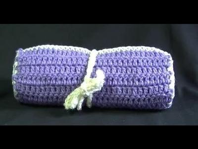 Crochet Hook. Make up Brush Case Tutorial - Easy