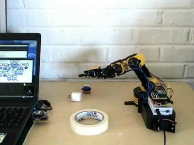 DIY Arduino + Xbee Controlled Robot Arm