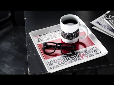 DIY by Panduro: Decorate porcelain with Paper Tape