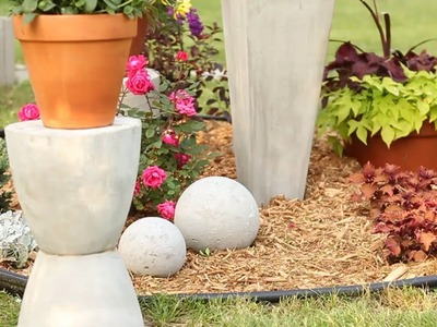 DIY Concrete Garden Ornaments