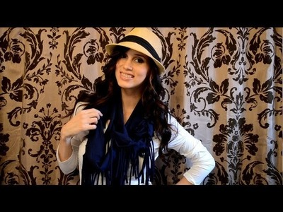 DIY: How to Cut a T-Shirt: Fringe Scarf